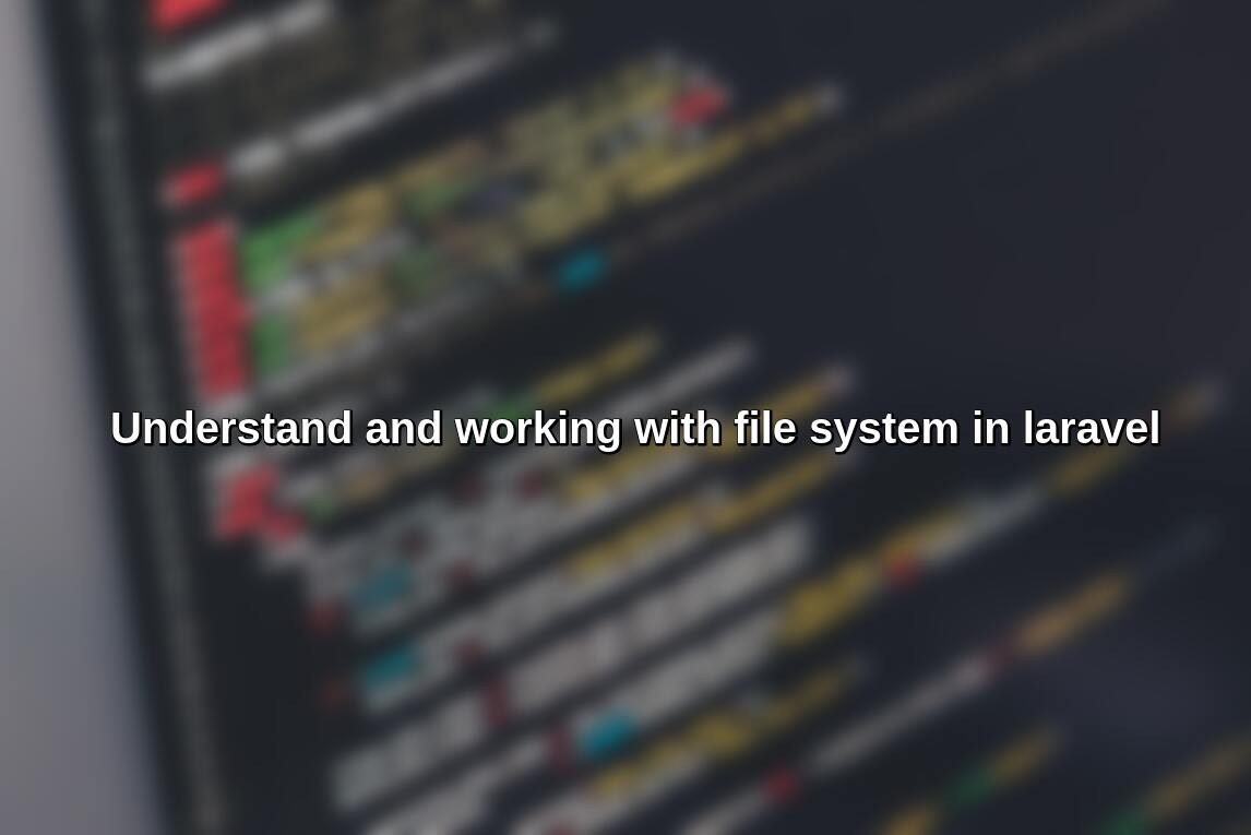 Working with files in laravel