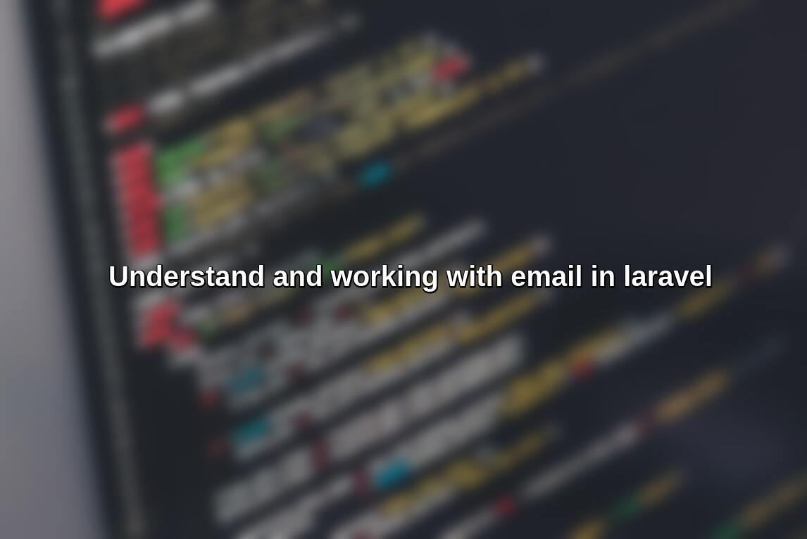 How to send email in laravel?